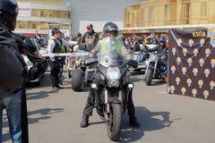 Abertura da estação da motocicleta em Kyiv fotografia de stock