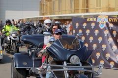 Abertura da estação da motocicleta em Kyiv fotos de stock