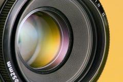 Abertura da lente de câmera fotografia de stock