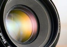 Abertura da lente de câmera Fotos de Stock