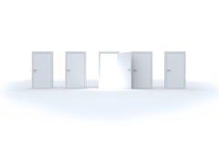 Abertura da porta que revela a luz brilhante Imagens de Stock Royalty Free