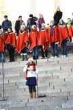 Abertura da rua do Natal em Helsínquia Fotos de Stock Royalty Free