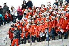 Abertura da rua do Natal em Helsínquia Fotografia de Stock Royalty Free