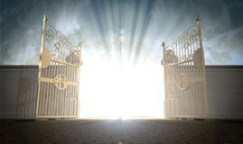 Abertura das portas dos céus Fotografia de Stock