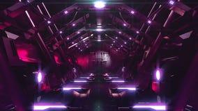 Abertura de aço da porta no túnel da ficção científica ilustração royalty free