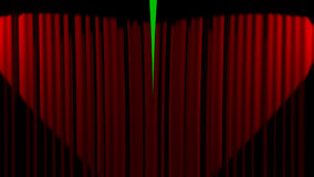Abertura de la cortina del cine libre illustration