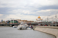 Abertura de la estación de la navegación en Moscú Fotografía de archivo libre de regalías