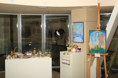Abertura de la exposición dedicada a la celebración de Pascua Imagenes de archivo