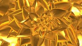 Abertura de oro de la flor Loopable ilustración del vector