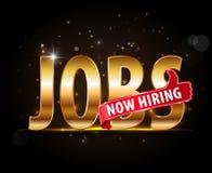 Abertura de trabajos ahora que emplea ofertas de trabajo rojas de la publicidad del thumbsup en compañía Foto de archivo libre de regalías