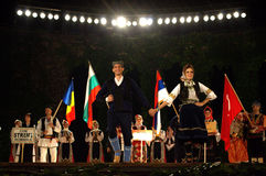 Abertura del festival del folclore Fotos de archivo