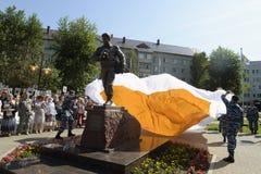 Abertura del monumento, vida del ` para el ` de la verdad a todos los periodistas que murieron en la guerra Fotografía de archivo
