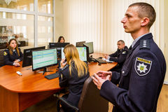 Abertura do centro moderno da situação da polícia nacional de imagem de stock