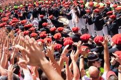 Abertura do festival de San Fermin em Pamplona Fotos de Stock