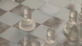 Abertura do jogo de xadrez video estoque