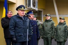 A abertura do primeiro ponto de contato comum no Ucraniano-Hu Imagens de Stock Royalty Free