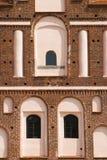 Aberturas de la ventana de la albañilería decorativa imagen de archivo libre de regalías