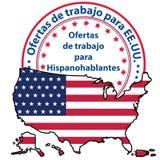 Aberturas de trabajo en Estados Unidos para los altavoces españoles Foto de archivo libre de regalías