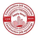 Aberturas de trabajo - trabajos de la construcción disponibles - publicidad del trabajo/oferta de trabajo Imágenes de archivo libres de regalías
