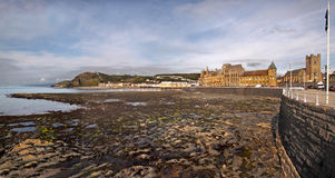 Aberystwyth. A view at low tide of Aberystwyth, which is a holiday resort in Wales UK Stock Photography