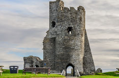 Aberystwyth Castle in Wales Stock Photos