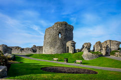 Aberystwyth castle in Wales Royalty Free Stock Photography