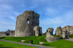 Aberystwyth castle in Wales Stock Photography