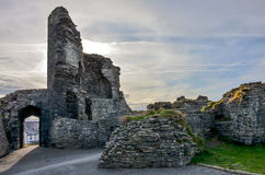 Aberystwyth castle in Wales Royalty Free Stock Photo
