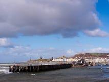 Aberystwyth från söderna, Wales Royaltyfri Bild
