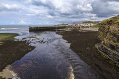 Aberystwyth hamn Royaltyfri Fotografi