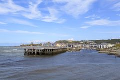 Aberystwyth hamningång Arkivfoton