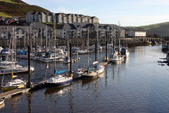 Aberystwyth harbour A Stock Image