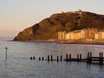 Aberystwyth i koftafjärden, Wales Royaltyfria Bilder
