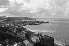 Aberystwyth i morze obraz stock