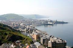 aberystwyth kust- town Arkivfoto