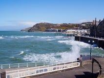 Aberystwyth på högvatten Royaltyfri Foto