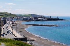 Aberystwyth panorama Royaltyfria Bilder