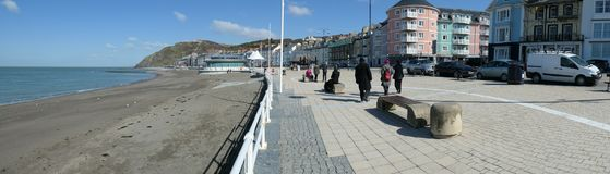Aberystwyth promenade panorama Stock Photography