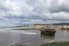 Aberystwyth södra strand Arkivfoto