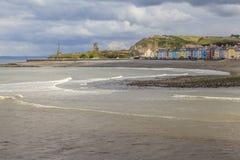 Aberystwyth södra strand Fotografering för Bildbyråer