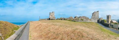 Aberystwyth slott Royaltyfria Bilder