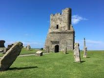 Aberystwyth slott Royaltyfri Bild