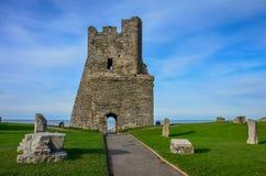Aberystwyth slott i Wales Fotografering för Bildbyråer