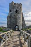 Aberystwyth slott i Wales Arkivbild