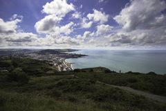 Aberystwyth sous l'éclat glorieux de Sun Photo libre de droits