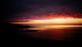 Aberystwyth Sunset (2001) Royalty Free Stock Photography