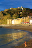 Aberystwyth view with boy Royalty Free Stock Image
