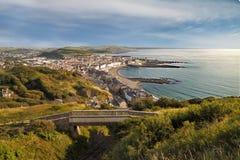 Aberystwyth von oben Lizenzfreies Stockbild