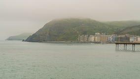 Aberystwyth Wales, UK Arkivbild