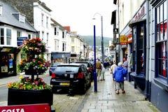 Aberystwyth, Wales. Aberystwyth, Wales, UK. July 22, 2016. Great Darkgate street one of the main shopping streets in Aberystwyth Stock Photo